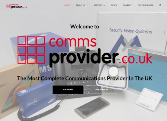 CommsProvider New Website Launch
